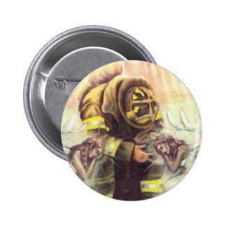 911 ángeles del bombero pin redondo de 2 pulgadas