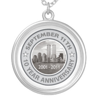 911 aniversario de 10 años colgante redondo