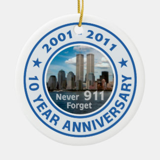 911 aniversario de 10 años adorno para reyes