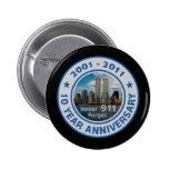 911 aniversario de 10 años pins