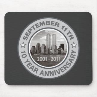 911 aniversario de 10 años mousepads