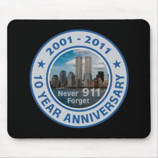 911 aniversario de 10 años alfombrillas de raton
