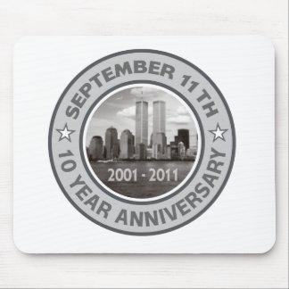 911 aniversario de 10 años alfombrilla de ratones