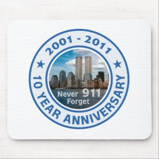 911 aniversario de 10 años alfombrilla de raton