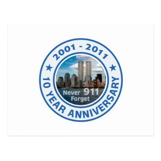 911 aniversario de 10 años postales