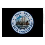 911 aniversario de 10 años tarjetas