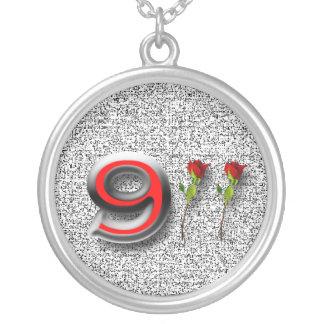 911 Anniversary Round Pendant Necklace