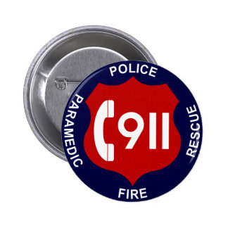 911 Button Police Fire Ambulance