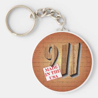 911 Conspiracy Keychain