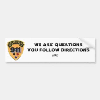 911 DESPACHADORES/OPERADOR PEGATINA PARA AUTO