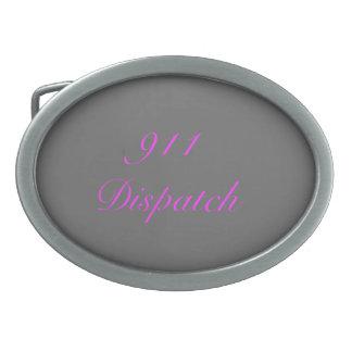 911 Dispatch Oval Belt Buckle