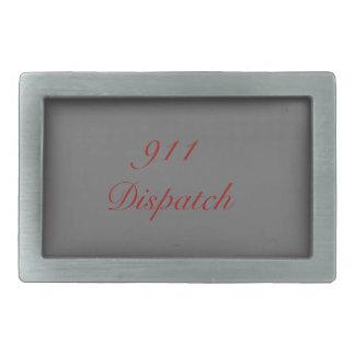 911 Dispatch Rectangular Belt Buckle