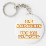 911 dispatcher-1 basic round button keychain