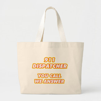 911 dispatcher-1 large tote bag
