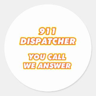 911 dispatcher-1 pegatina redonda
