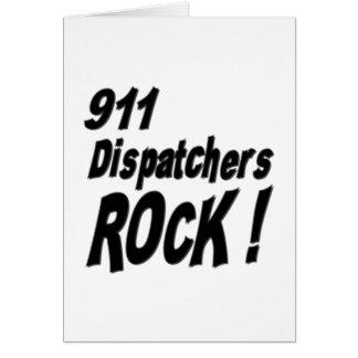 911 Dispatchers Rock! Greeting Card