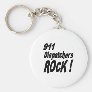 911 Dispatchers Rock! Keychain