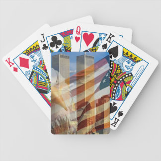 911 eagle flag towers bicycle playing cards