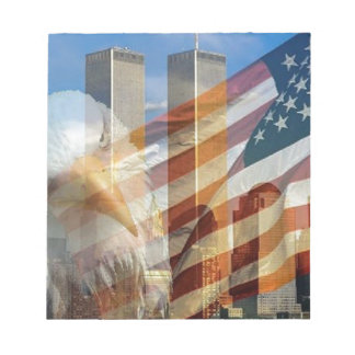 911 eagle flag towers notepad