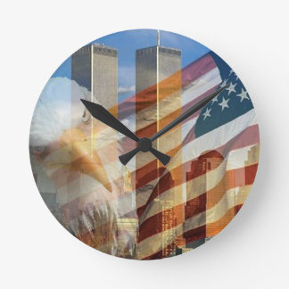 911 eagle flag towers round clock