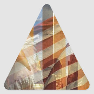 911 eagle flag towers triangle sticker