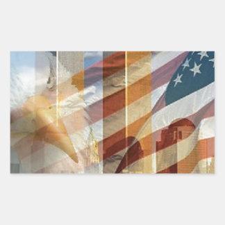 911 eagle flag towers rectangular sticker