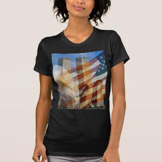 911 eagle flag towers T-Shirt