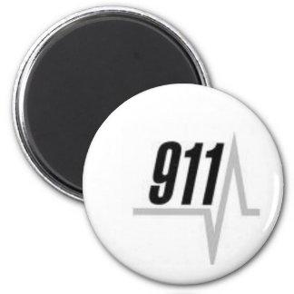 911 EKG strip 2 Inch Round Magnet
