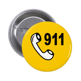 911 EMERGENCY PHONE NUMBER MEDICAL HELP SHOUTOUT PINS