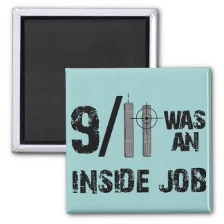 911 era el trabajo interior imán cuadrado