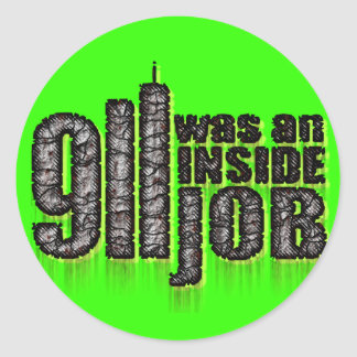 911 era un trabajo interior pegatina redonda