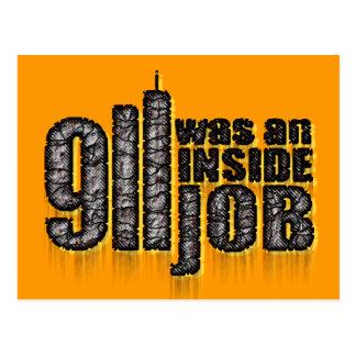 911 era un trabajo interior tarjeta postal