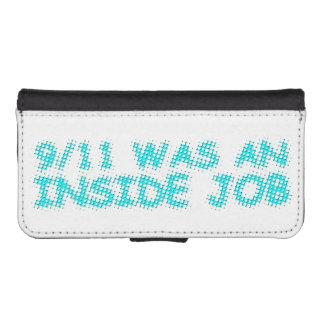 911 eran un trabajo interior, burbuja funda tipo billetera para iPhone 5