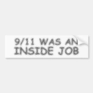 911 eran un trabajo interior, burbuja pegatina para auto