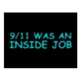 911 eran un trabajo interior, burbuja postales