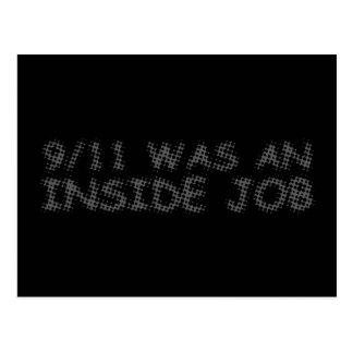 911 eran un trabajo interior, burbuja tarjeta postal