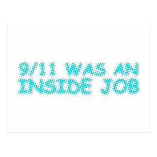 911 eran un trabajo interior, burbuja tarjetas postales