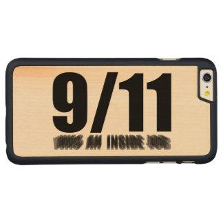 911 eran un trabajo interior funda de arce carved® para iPhone 6 plus