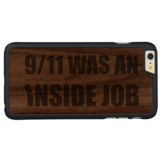 911 eran un trabajo interior funda para iPhone 6 de carved® de nogal