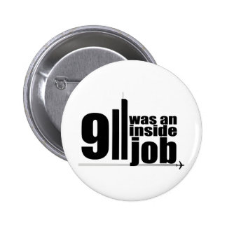 911 eran un trabajo interior pin redondo de 2 pulgadas
