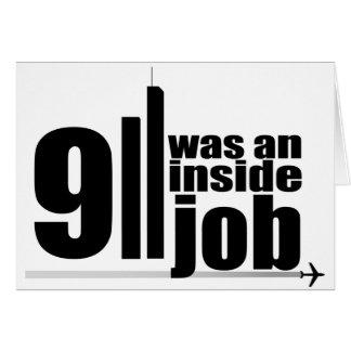 911 eran un trabajo interior tarjeta de felicitación