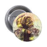 911 Fireman Angels Pinback Button