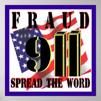 911 Fraud Poster