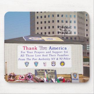 911 Ground Zero Thank You America Mouse Pad
