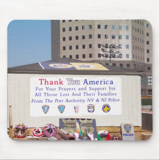 911 Ground Zero Thank You America Mouse Pad