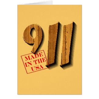 911 hizo en los E.E.U.U. Tarjeta De Felicitación