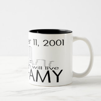 911 INFAMY-cup Two-Tone Coffee Mug