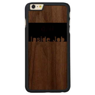 911 Inside Job Carved Walnut iPhone 6 Plus Case