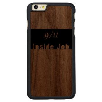 911 inside job carved walnut iPhone 6 plus slim case