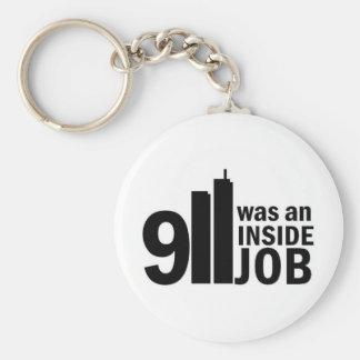 911 inside job key chain